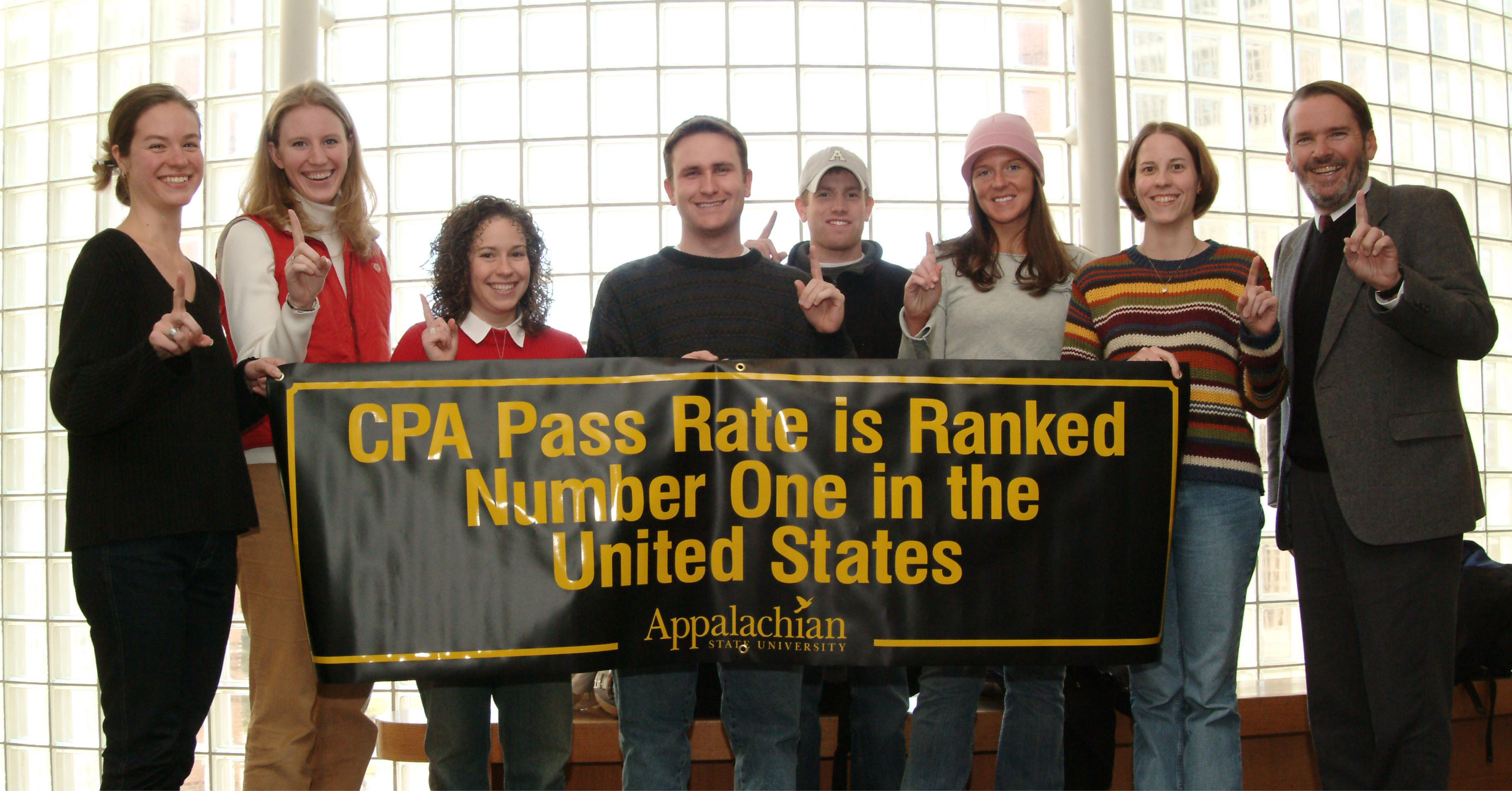 Accounting students celebrate top CPA pass rate