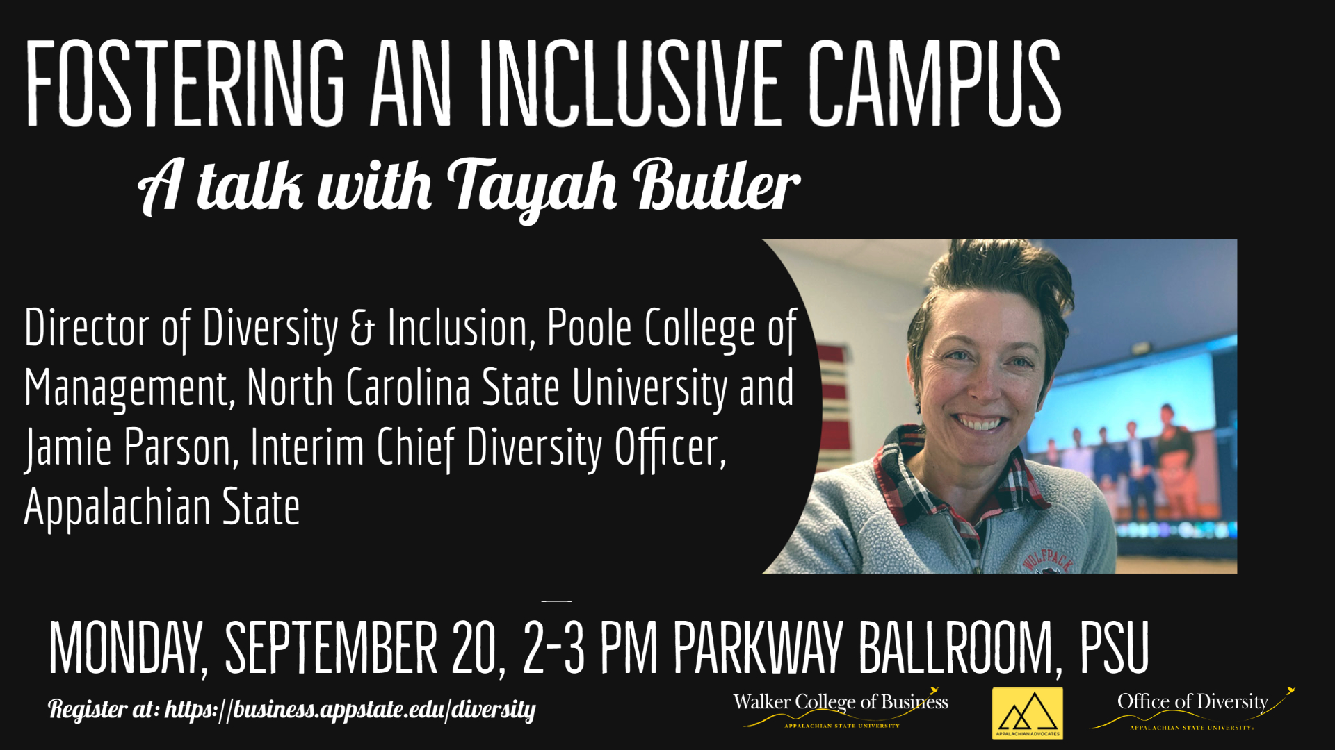 Registration: Fostering an Inclusive Campus: A Talk with Tayah Butler