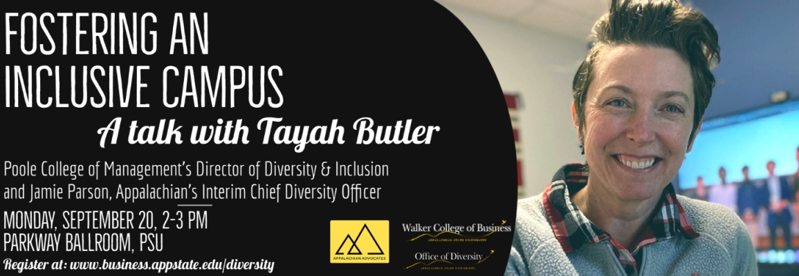 Tayah Butler Talk - Fostering an Inclusive Campus September 20