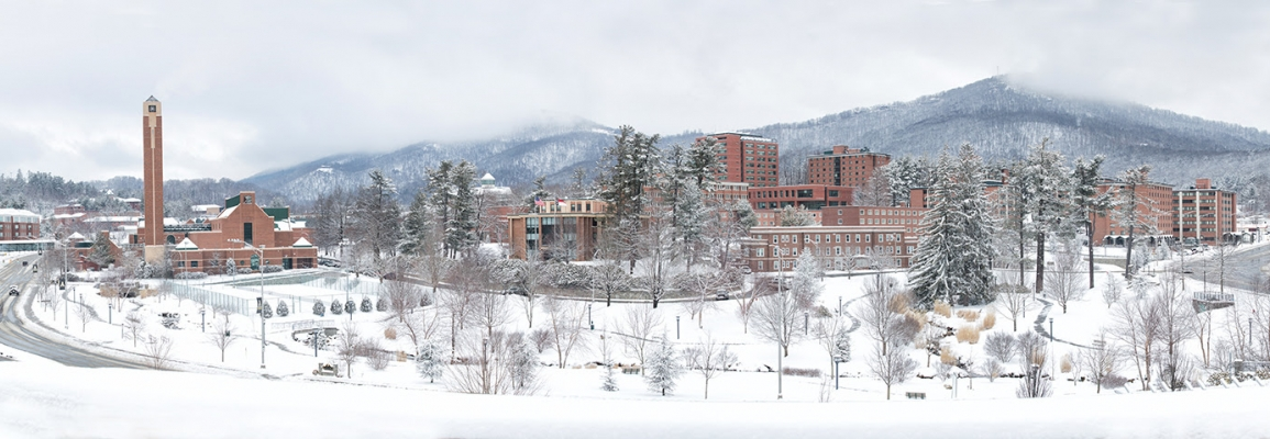 App State's Campus in Winter