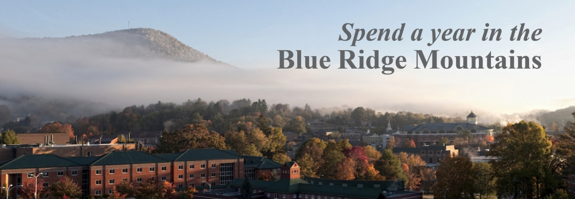 Spend a year in the Blue Ridge Mountains.