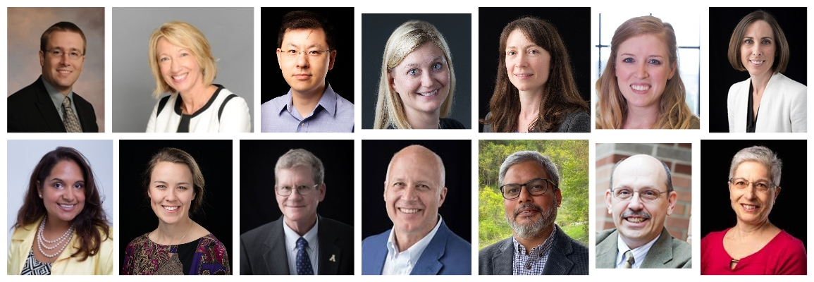 Inclusive Excellence Team.  Left to Right Top: Eggers, Henson, Ji, Albinsson, Pipes, Tilton, Figlow Left to Right Bottom: Parson, Schmidt, Alexander, Schlenker, Panwar, Meznar, Hofmann