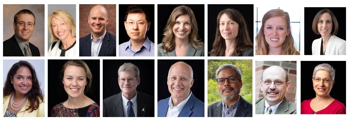 Inclusive Excellence Team.  Left to Right Top: Eggers, Henson, Northington Ji, Cathey, Pipes, Tilton, Figlow Left to Right Bottom: Parson, Schmidt, Alexander, Schlenker, Panwar, Meznar, Hofmann