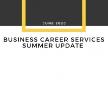 Business Career Services Summer Update