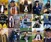 More than 1,700 Appalachian State University graduates were conferred degrees during the university's virtual Fall 2020 Commencement Dec. 11. This photo collage shows a handful of the numerous celebratory commencement photos shared by App State's Class of 2020 graduates via social media.