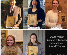 2020 Walker College International Award Winners