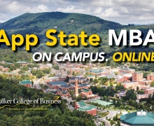 Nationally recognized App State MBA available online in fall 2020