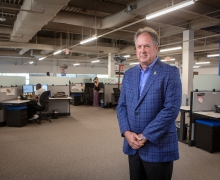 """Ronald """"Steve"""" Norwood '80, founder and CEO of Consolidated Asset Recovery Systems Inc. in Raleigh. He was recognized with a 2019 Outstanding Service Award, conferred by the Appalachian Alumni Association, during the university's 2019 homecoming weekend."""