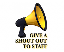 """Staff members earn """"SHOUT OUTS"""" for excellent service"""