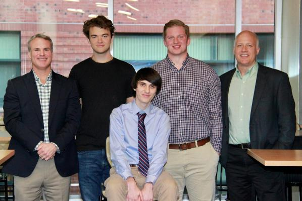 Pictured from left are Bobby Martin, Narayana Walters, Jackson Barbee, Chandler Greer and Erich Schlenker