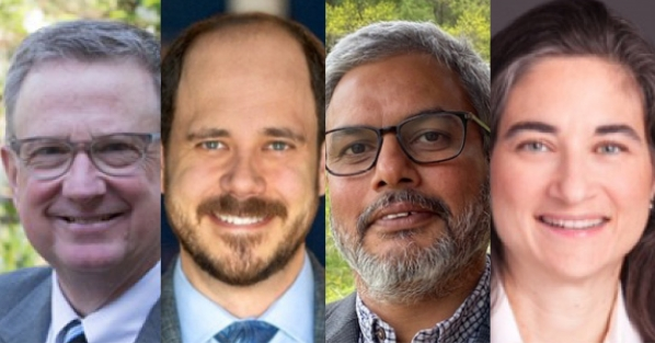 From left are event panelists: Jim Hartzfeld, Nathan Havey, Rajat Panwar and Diana Propper de Callejon