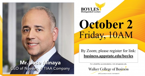 Jose Minaya, CEO of Nuveen, a TIAA Company to speak as 62nd Boyles Lecturer