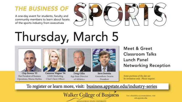 Business of Sports to bring App State alumni, sports authorities to campus March 5