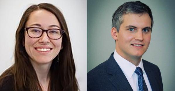 Erin Brown, left, and Brendan Sullivan named to Cratis D. Williams Society