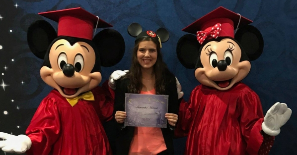 Sam Hedrick, a junior hospitality and tourism management major from Randleman, is pictured at Walt Disney World in Orlando, Florida, during her Disney College Program experience in 2018.