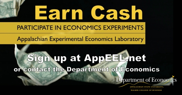 Earn cash for participation in economics experiments