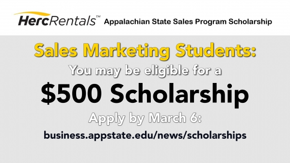 HercRentals Appalachian State sales program scholarships