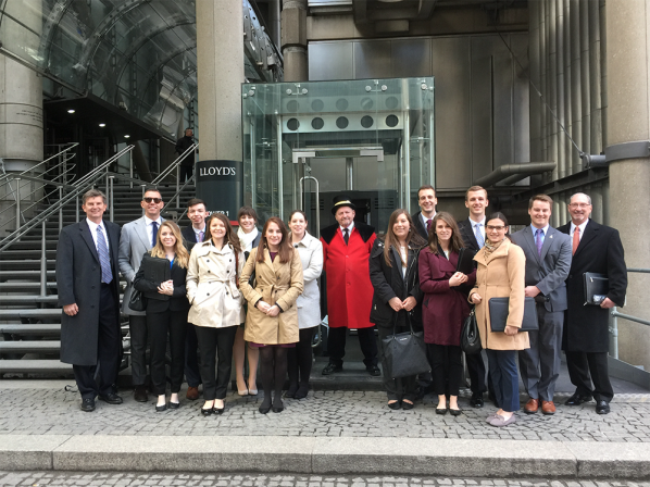 Twelve Appalachian State University students traveled to London with Brantley Board of Advisors members during the university's spring break, March 5-9, as part of a Walker College of Business international markets course.