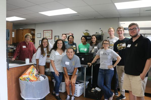 Business students at App State step in and stock up for the High Country's hungry