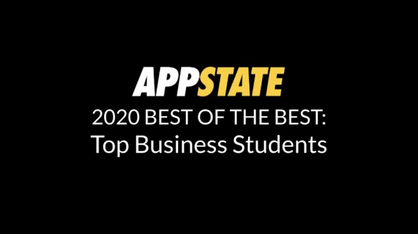 Walker College of Business names 30 students to App State's Best List