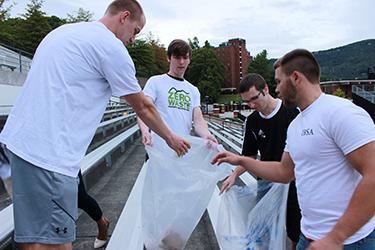 IBSA members cleaning up Kidd Brewer Stadium