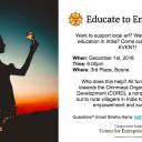 Dec. 1 Educate to Empower event will support Chinmaya Organization for Rural Development