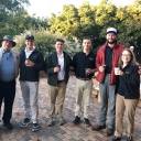Pictured are Beroth Oil President (ret.) Winfield Beroth '65, second from left, and Walker College of Business Dean Heather Norris, far right. An early shot-gun start was cause for coffee for golfers and student volunteers, alike.