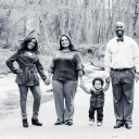 Jamie Parson, second from left, with her family