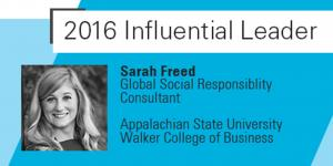 2016 Influential Leader Sarah Freed