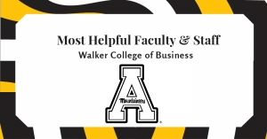Business faculty and staff members among most helpful at App State