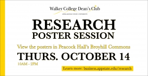Dean's Club Research to be featured in Peacock Hall October 14