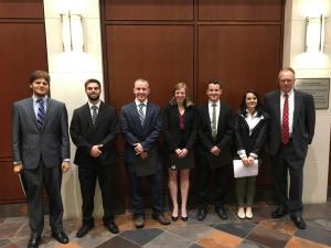 Economics students earn top stop during regional College Fed Challenge