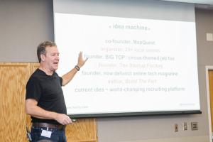 Mapquest Co-Founder Chris Heivly delivered the keynote address to 350 during annual Carole McLeod Entrepreneur Summit