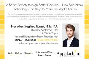 Holshouser Ethics to present lunch and learn on sustainable business topic Sept. 19