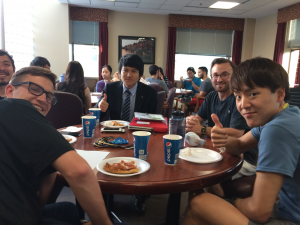 Students from Chile, Italy, Mexico, Japan and Spain joined members of Appalachian State University's International Business Student Association (IBSA) September 27 for an International Student Welcome Dinner.
