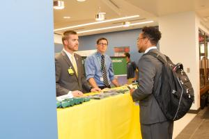 Career-fair-type corporate information tables were part of the fourth annual Walker Business Connections.