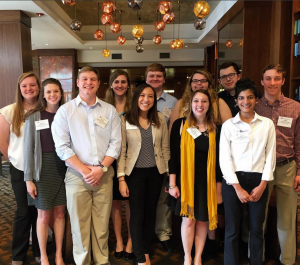 Leaders from Appalachian's chapter of Beta Alpha Psi travel to regional meeting; place second in community outreach competition