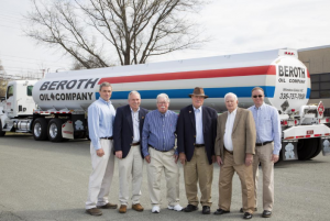 Beroth Oil family, from left, Vic Beroth, Vice President; Walter Beroth, President/CEO; George Beroth, Retired; Winfield Beroth, Retired; Vernice Beroth Jr., Retired; and Kevin Beroth, Vice President (Julie Knight)