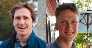 Logan Decker, left, and Caleb Garbuio have earned Brashear Prizes
