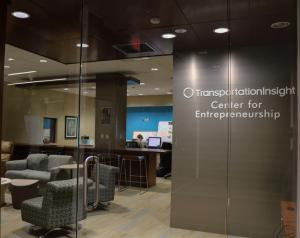 Inside Peacock Hall, students can find the Transportation Insight Center for Entrepreneurship. The center is a part of the Walker College of Business.
