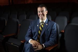 David English '04 '06 is the 2018 winner of Appalachian State University's Young Alumni Award. Photo by Marie Freeman