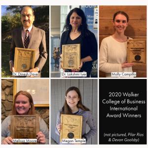 2020 Walker College International Award Winners