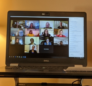 App State Women of Walker participate in Zoom Session with Bowman