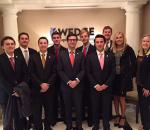 Bowden Investment Group students Connor Kelly, Zach Pulliam, Jack Ludlow, Paul Hee, Matt Wine, Patrick Fontaine, Brett Featherstone, Stephen Boatman, Danelle Chilcott and Caitlin Owings.