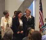 Emily Haas receiving Brooks award
